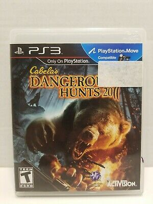 Cabela's Dangerous Hunts 2011 (Sony PlayStation 3, 2010) PS3 Game COMPLETE CIB