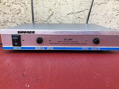 SHURE DL-868 HIGH VHF  DUAL Channel PRODESIONAL WIRELESS   Microphone SYSTEM