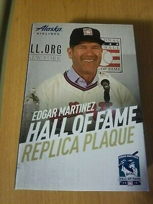 EDGAR MARTINEZ 2019 HALL OF FAME Plaque SEATTLE MARINERS SGA 8/10/19 HOF.