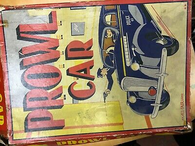 Prowl Car Board Game (1940) Vintage Classic Board Game Police Game