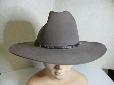d4c232a5 STETSON MENS 4X Broken Bow Buffalo Cowboy Hat Buck Tan 7 1/4 ...
