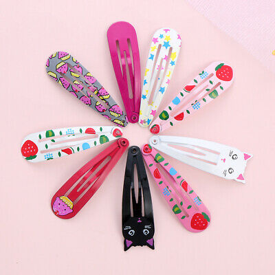 Barrette Snap Hair Clips Girls BB Hairpins Baby Hairgrip Cat Fruit Printed