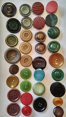 antique celluloid button lot shiny buffed wafer carved celluloid buttons Lg-Sm
