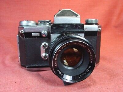 Wirgin Edixa Prismat 35mm SLR camera w/Rexatar 55mm f1.7 lens. German made camer