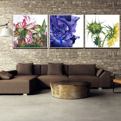 Flower Painting Canvas Print Poster Corridor Living Room Wall Picture Home Decor
