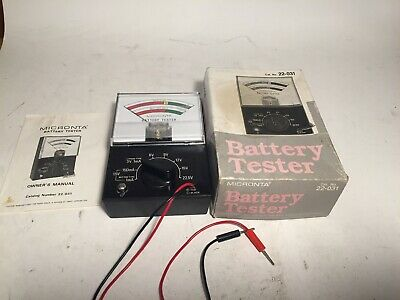 Vintage Micronta Radio Shack 22 031 Analog Battery Tester In Box W Instructions