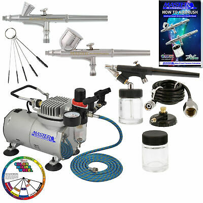 Siphon Feed 0.5mm Dual Action Airbrush Kit for Art Work Nail Body Painting N2D3