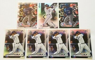 Lot (7) Vladimir Guerrero Jr. 2019 Bowman Rookie Platinum Camo Base Variations