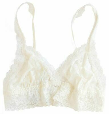 Hanky Panky Womens Signature Lace Thick Strap Bralette - Ivory
