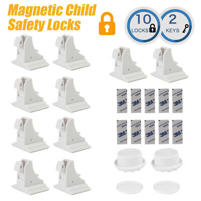 Magnetic Cabinet Drawer Cupboard Locks for Baby Kids Safety Child Proofing
