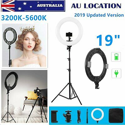 """19"""" Dimmable Diva 3200-5600K Makeup LED Ring Light with Stand for Photo Studio"""