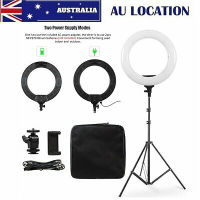 """14"""" LED Ring Light Adjust Color Temperature 3200-5600K Warm to Cold Photography"""