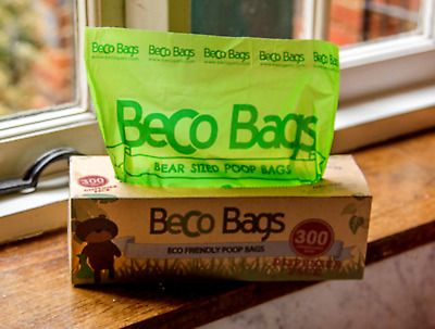 Beco Bags 'Degradeable' Dog poo poop bags 300 on roll boxed unscented