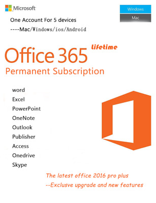 Microsoft Office 365 Pro 2019 Account License 5 Users 5 TB Onedrive PC/Mobile