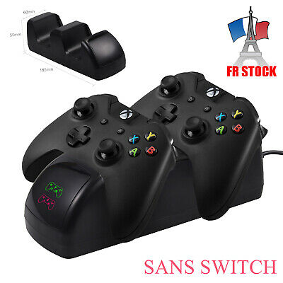 Chargeur Xbox One Twin Station d'accueil de charge Batteries rechargeables FR