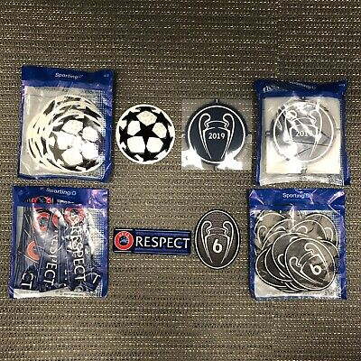 Liverpool UEFA Champions League Starball & RESPECT Sleeve Patches/Badges 2019/20