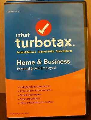 Intuit TurboTax Home & Business 2018 Tax Preparation Software Brand New Sealed