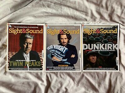 3 BFI Sight & Sound Magazines - June, July & August 2017 Issues
