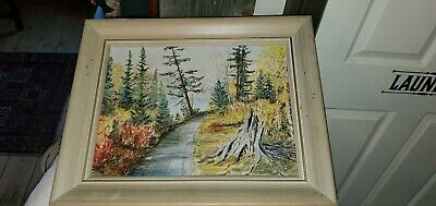 Early 1950'Oil Painting,Framed,On Board .Beauty