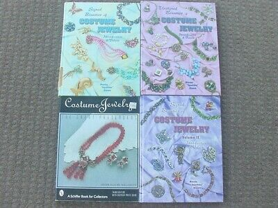 Book Lot of 4 Collecting Rhinestone Antique Jewelry Price & Reference Guide