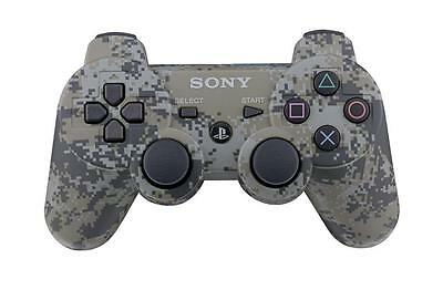 PS3 Sony PlayStation 3 Camo Duel Shock Controller CECHZC2U Official