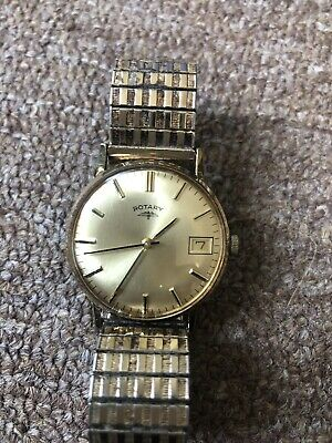 Vintage Mens Rotary Manual Winding Wrist Watch With Working Order.