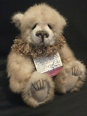 "12"" Lori Simon blond mink artist bear."