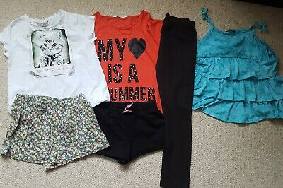 Girls T-shirt vest top and shorts bundle inc NEXT 8-11 years