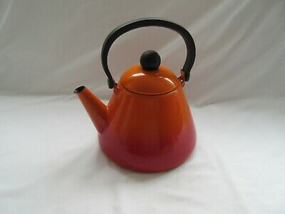Volcanic flame red orange Cone stove top kettle no whistle