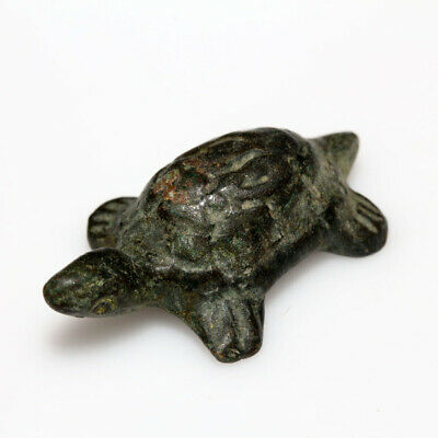Very Rare Ancient Greek Aegina Bronze  Turtle Statue Circa 500-300 Bc