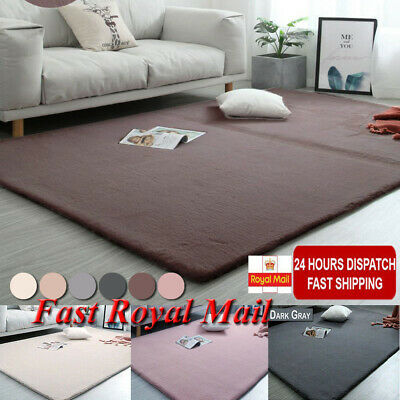Washable Area Rugs Home Bedroom Rug Floor Carpet Soft Shaggy Faux Rabbit Fur Rug