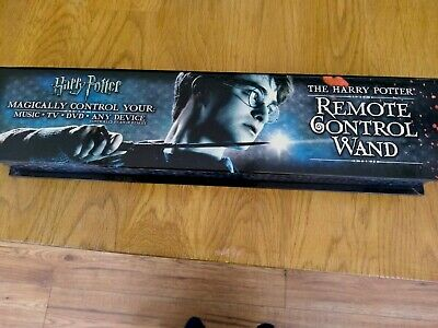 Official The Harry Potter Remote Control TV DVD Console Magic Wand - Boxed Noble