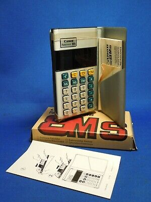 Vintage Retro Canon Palmtronic 8Ms LD-8MS Calculator W/ Box