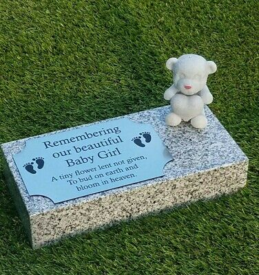 Personalised Granite Memorial Plaque Baby Grave Marker Cemetery Headstone