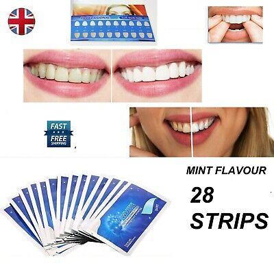 28 Advanced Professional Teeth Whitening Strips Home Bleaching Fast Post