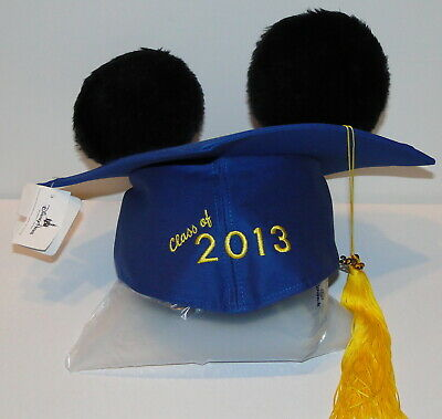 Disney Parks Graduation 2013 Mickey Mouse Mortarboard Ears NEW