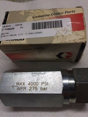 Graco Airless 220179 Stainless Check Valve 3/4 inch NPT