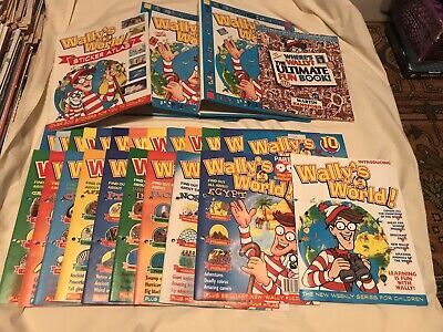 Wally's World Binder Set with Sticker Atlas And Where's Wally? The Ultimate Book