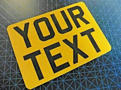 """7"""" x 5""""  + CARBON FONT Novelty Motorcycle Motorbike Number Plate"""