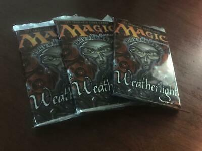 Weatherlight Booster Pack Lot of 3 Sealed Packs Magic the Gathering MTG