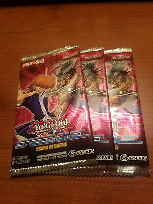 YuGiOh Scars of Battle 1st Edition Booster Pack x3