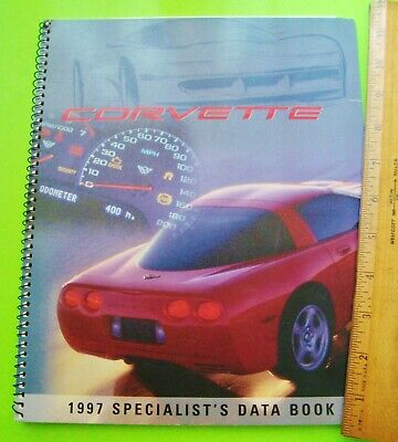 1997 CORVETTE SALESMAN DATA BOOK Huge Spiral Brochure CHEVY SPECIALIST 72-p XLNT