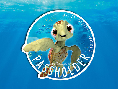 Disney Annual Passholder featuring Squirt! Finding Nemo AP Car Magnet (FAN-ART!)