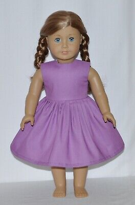 Solid Lavender Doll Dress Clothes Fits American Girl Dolls