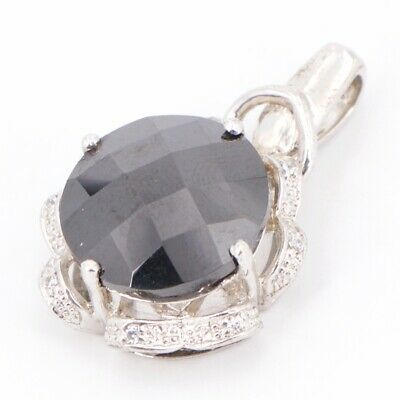 Sterling Silver - Faceted CZ Cubic Zirconia Pendant - 10g