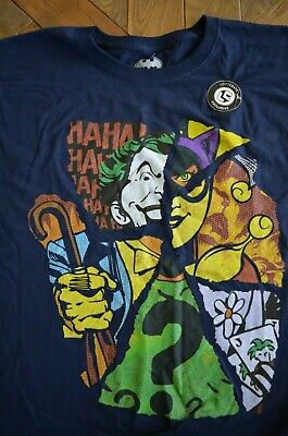 Loot Crate Wear Batman Joker Cat Woman DC Comics Men's T-Shirt PICK YOUR SIZE