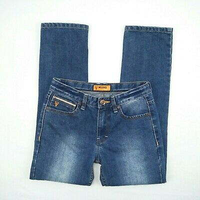 MOOKS - Blue Faded Distressed Straight Blue Denim Jeans Boy's Size 10 Adjustable