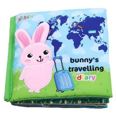 Soft Cloth Book Animal Infant Baby Kid Intelligence Development Toy Book JA