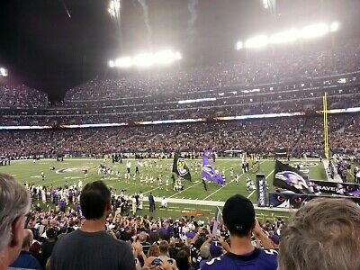 Baltimore Ravens vs Cleveland Browns 2 TICKETS LOWER LEVEL SEC 121 9/29/2019