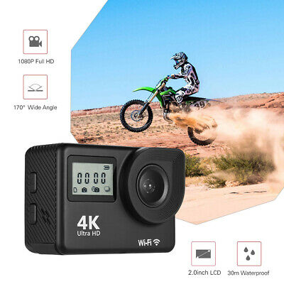 F1 4K/30FTP Full HD WiFi Sports Action Camera Cam Waterproof DVR +Remote C4G4